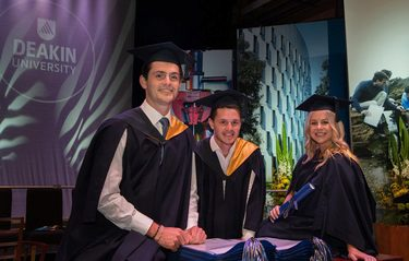 Deakin Commerce all in the family as sibling trio graduates